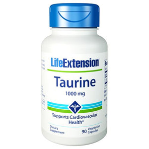 Taurine 90 Vcaps by Life Extension (2590190501973)