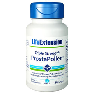 Triple Strength ProstaPollen 30 Soft Gels by Life Extension (2590190698581)