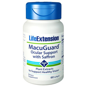 Macuguard Ocular Support With Saffron 60 Softgels by Life Extension