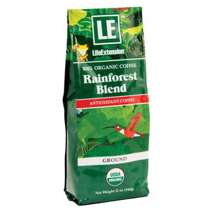 Rainforest Blend Ground Coffee Natural 12 Oz by Life Extension