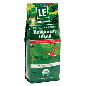 Rainforest Blend Whole Bean Coffee 12 Oz by Life Extension