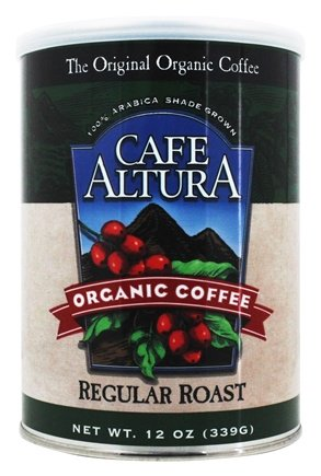 Organic Regular Roast Ground Coffee 12 Oz by Cafe Altura (4753968267349)