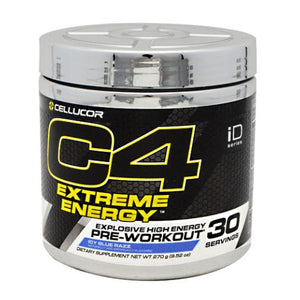 C4 Extreme Energy Pre-Workout Icy Blue Razz 30 Servings by Cellucor (4753977442389)
