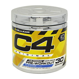 C4 Pre-Workout Explosive Energy Icy Blue Razz 30 Servings by Cellucor (4753977933909)