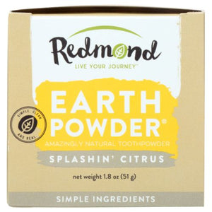 Earthpowder All Natural Tooth and Gum Powder Splashin Citrus 1.8 Oz by Redmond Life (2590326194261)