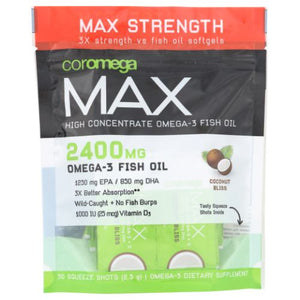 Max High Concentrate Omega-3 Coconut Bliss 30 Count by Coromega