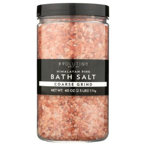 Himalayan Coarse Grind Crystal Bath Salt 40 Oz by Evolution Salt (4753991106645)