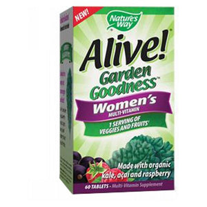 Alive! Garden Goodness Women's Multivitamin 60 Tabs by Nature's Way (2590029283413)