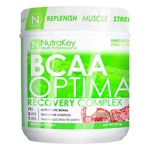 BCAA Optima Fruit Punch 30 serving by Nutrakey (2588450357333)