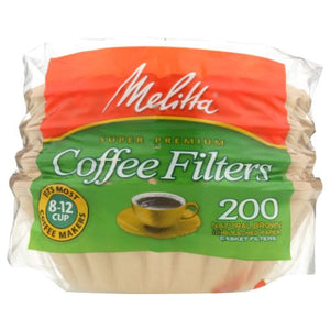 Coffee Filters Basket 200 Pieces(case of 6) by Melitta (4753967251541)