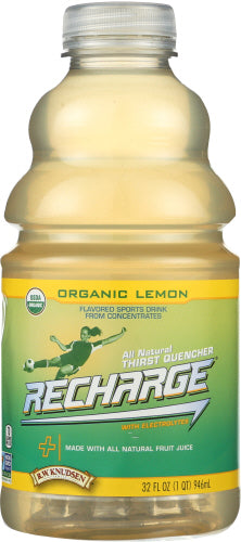 Recharge Juice Lemon Organe 32 Oz (Case of 6) by R.W. Knudsen (4753972887637)