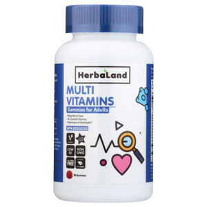 Gummy for Adults Multivitamin 90 Peaces by Herbaland (4754020302933)