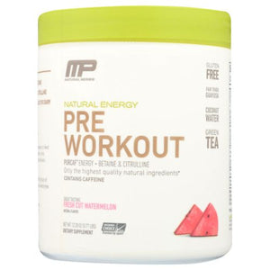 Pre-Workout Natural Energy Cut Watermelon 348 Grams by Arnold By Musclepharm (4754020630613)
