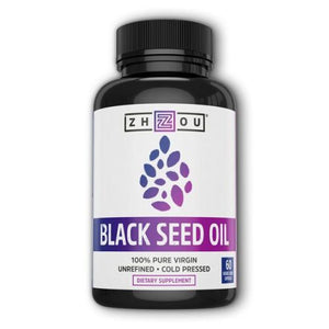 Black Seed Oil 60 Veg Caps by Zhou Nutrition (4754021646421)