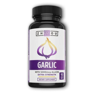Garlic Extra Strength 90 Coated Tablets by Zhou Nutrition (4754021810261)