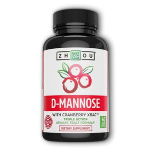 D-Mannose with Cranberry 60 Veg Caps by Zhou Nutrition (4754024300629)