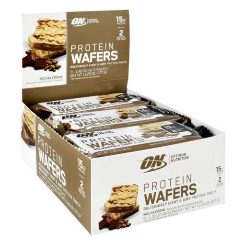 Protein Wafers Mocha Creme 9 Count by Optimum Nutrition