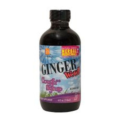 Ginger Wow Cough Syrup 4 Oz by L. A .Naturals