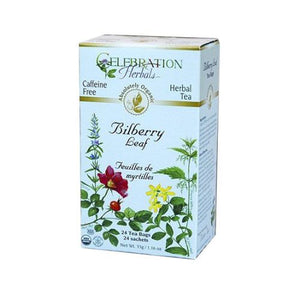 Organic Bilberry Leaf Tea 24 Bags by Celebration Herbals (4754057363541)