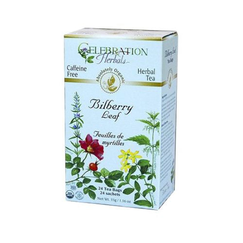 Organic Bilberry Leaf Tea 24 Bags by Celebration Herbals