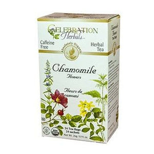 Organic Chamomile Flowers Tea 24 Bags by Celebration Herbals (4754058248277)
