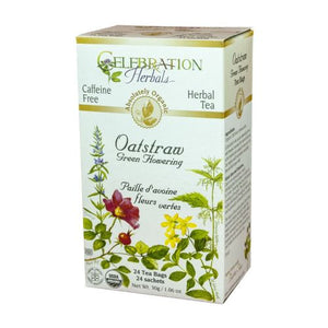 Organic Oatstraw Green Flowering Tea 24 Bags by Celebration Herbals (4754059034709)