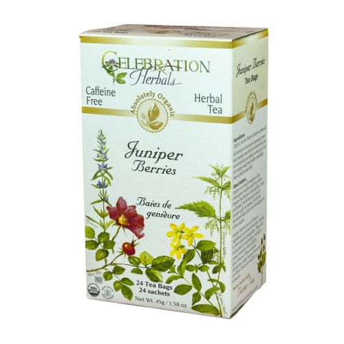 Organic Juniper Berries Tea 24 Bags by Celebration Herbals