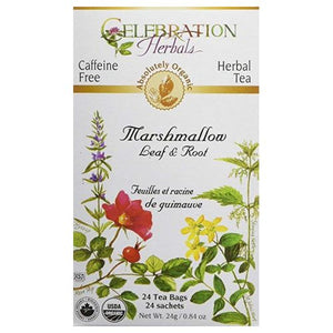 Organic Marshmallow Leaf & Root Tea 24 Bags by Celebration Herbals (4754059526229)