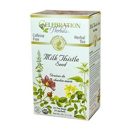 Organic Milk Thistle Seed Tea 24 Bags by Celebration Herbals