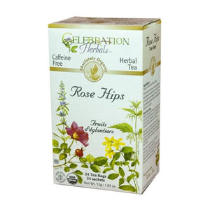 Organic Rose Hips Tea 24 Bags by Celebration Herbals (4754060116053)
