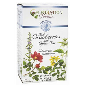 100% Pure Cranberry Organic Tea 24 Bags by Celebration Herbals (4754060705877)
