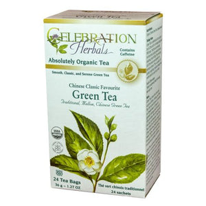 Chinese Classic Favorate Green Tea 24 Bags by Celebration Herbals (4754061590613)