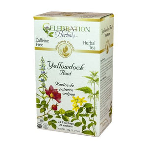 Organic Yellowdock Root Tea 24 Bags by Celebration Herbals (4754062475349)