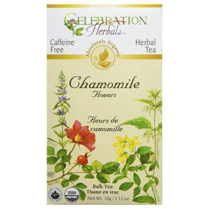 Organic Whole Chamomile Flowers Tea 32 grams by Celebration Herbals (4754062901333)