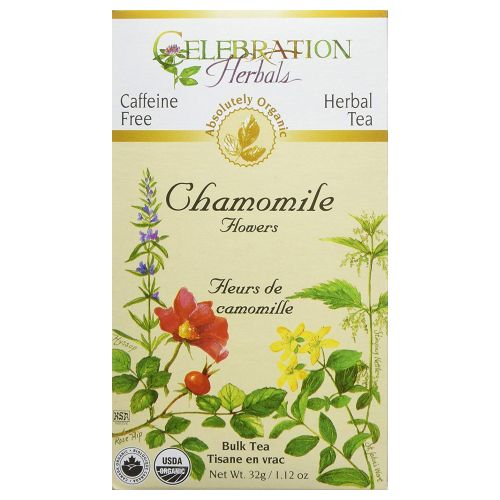 Organic Whole Chamomile Flowers Tea 32 grams by Celebration Herbals