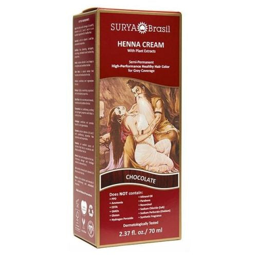 Henna Cream Chocolate 2.3 Oz by Surya Brasil