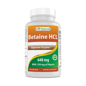 Betaine HCL 250 Caps by Best Naturals (4754090950741)