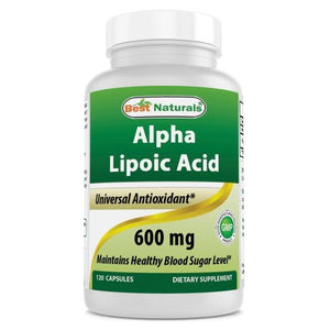 Alpha Lipoic Acid 120 Caps by Best Naturals (4754091573333)
