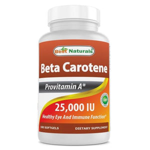 Beta Carotene 180 Softgels by Best Naturals (4754092851285)