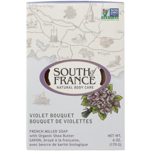 Violet Bouquet Bar Soap 6 Oz by South Of France Soaps (4754113036373)