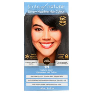Permanent Hair Color 1N Natural Black 4.4 Oz by Tints of Nature
