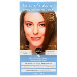 Permanent Hair Color 7N Natural Medium Blonde 4.4 Oz by Tints of Nature
