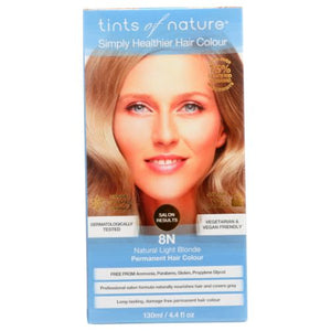 Permanent Hair Color 8N Natural Light Blonder 4.4 Oz by Tints of Nature (4754115100757)