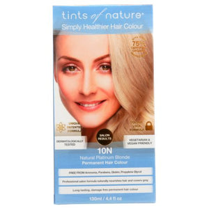 Permanent Hair Color 10 N Natural Platinum Blonde 4.4 Oz by Tints of Nature (4754115166293)