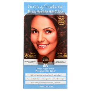 Permanent Hair Color 5R Rich Copper Brown 4.4 Oz by Tints of Nature (4754115395669)