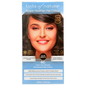 Permanent Hair Color 6C Dark Ash Blonde 4.4 Oz by Tints of Nature