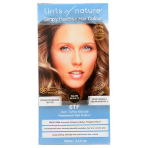Permanent Hair Color 6TF Dark Toffee Blonde 4.4 Oz by Tints of Nature (4754115526741)