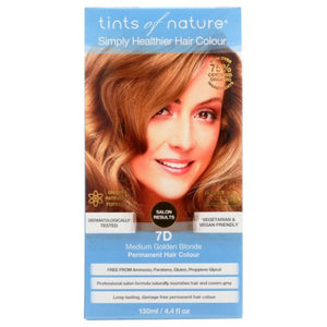 Permanent Hair Color 7D Medium Golden Blonde 4.4 Oz by Tints of Nature (4754115592277)