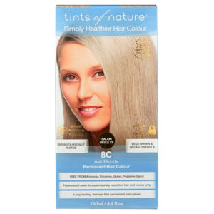 Permanent Hair Color 8C Light Ash Blonde 4.4 Oz by Tints of Nature (4754115657813)