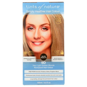 Permanent Hair Color 9D Very Light Blonde 4.4 Oz by Tints of Nature (4754115723349)
